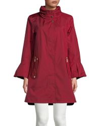 Gallery - Stand Collar Bell-sleeve Coat - Lyst