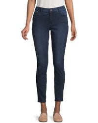 Lord & Taylor - Skinny Mid-rise Jeans - Lyst