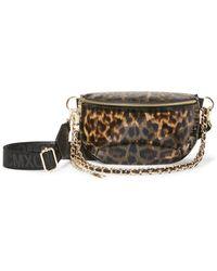Steve Madden Broar Leopard-print Convertible Pvc Belt Bag - Multicolour