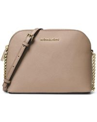 91a45096eafb2 Michael Kors Michael Python Half Dome Crossbody in Natural - Lyst