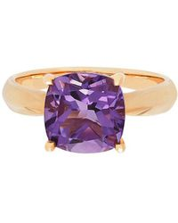 Lord & Taylor - Amethyst And 14k Yellow Gold Solitaire Ring - Lyst