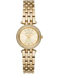 Michael Kors Darci Petite Pave Goldtone Stainless Steel Bracelet Watch