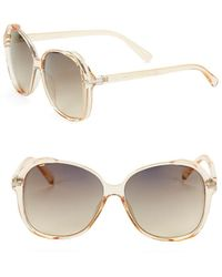 Jessica Simpson - 60mm Round Sunglasses - Lyst
