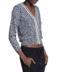 Tracy Reese - Leopard-print V-neck Cardigan - Lyst