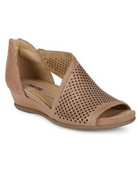 Earth - Venus Perforated Leather Sandals - Lyst