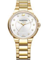 Swarovski - City Goldtone Stainless Steel Bracelet Watch - Lyst