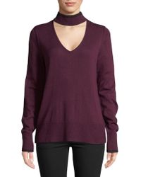 Calvin Klein Jeans - Choker Long Sleeve Sweater - Lyst