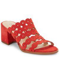 Isaac Mizrahi New York - Faye Block Heel Sandals - Lyst