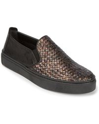 The Flexx - Sneak Name Woven Leather Slip-on Trainers - Lyst