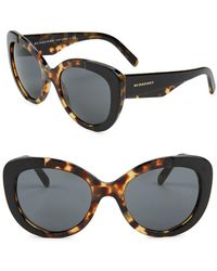 a9f2c93638 Burberry 56mm Cat Eye Sunglasses in Brown - Lyst