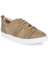 Botkier - Harvey Snake Print Leather Trainers - Lyst