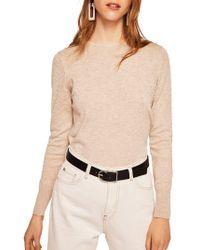 Mango - Dranon Textured Dot Sweater - Lyst