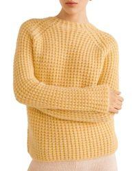 Mango - Textured Crewneck Sweater - Lyst