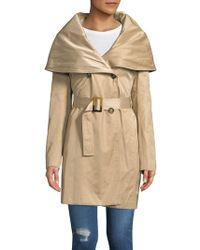 Donna Karan - Oversized Shawl Belted Coat - Lyst