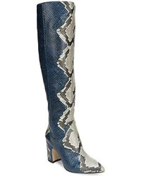 Sam Edelman - Hai Snakeskin Knee-high Boots - Lyst
