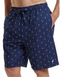 Nautica - Anchor Cotton Sleep Shorts - Lyst