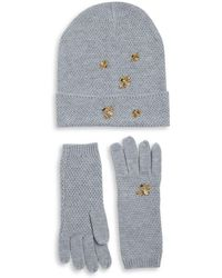 BCBGMAXAZRIA - Two-piece Bee Beanie And Gloves Set - Lyst