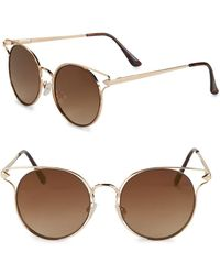 Circus by Sam Edelman - 50mm Tinted Round Sunglasses - Lyst