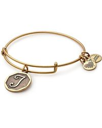 ALEX AND ANI - Initial J Charm Bangle - Lyst