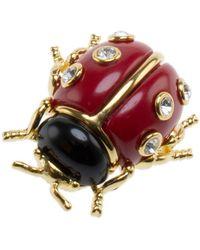 Kenneth Jay Lane Ladybug Pin - Metallic
