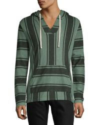 Lucky Brand - Striped Cotton Hoodie - Lyst