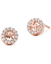 Michael Kors - Custom Kors Sterling Silver & Crystal Stud Earrings - Lyst