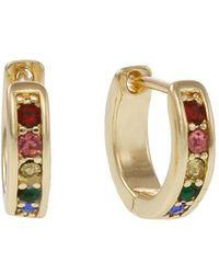 Laundry by Shelli Segal - Sierra Shades Goldtone & Multicolored Crystal Huggie Earrings - Lyst