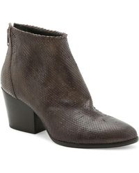Andre Assous - Fifi Snake Textured Ankle Boots - Lyst