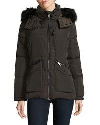 CALVIN KLEIN 205W39NYC - Faux Fur-trimmed Puffer Coat - Lyst