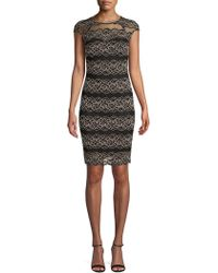 Kensie - Embroidered Lace Sheath Dress - Lyst