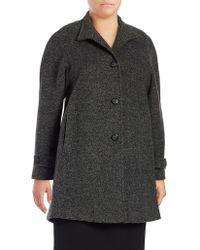 Jones New York - Plus Tweed Button-front Jacket - Lyst