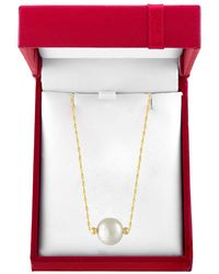Effy Red Box 10mm White Pearl And 14k Yellow Gold Necklace - Multicolour