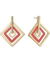 Christian Siriano Diamond Shape Drop Earrings - Pink