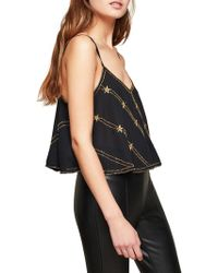 Miss Selfridge - Embellished Cropped Camisole - Lyst
