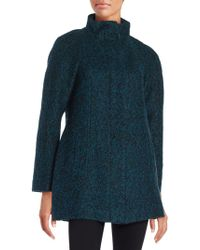 Anne Klein - Wool-blend Zip Front Coat - Lyst