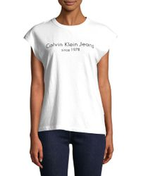 Calvin Klein - Jersey Cotton Muscle Tank Top - Lyst