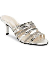 Caparros - Norah Embellished Metallic Strappy Sandals - Lyst