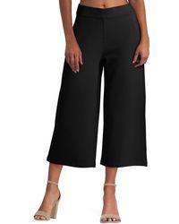 Isaac Mizrahi New York Pull On Wide Leg Pant - Black