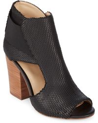 Botkier - Maddy Leather Peep Toe Booties - Lyst