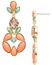 Sorrelli Mango Tango Cosima Drop Earrings - Metallic