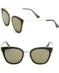 a5bd8955075 Jimmy Choo 57mm Cat Eye Sunglasses in Metallic - Lyst