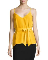 French Connection - Dalma Belted Top - Lyst