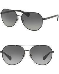 Pink Pony - 59mm Aviator Sunglasses - Lyst