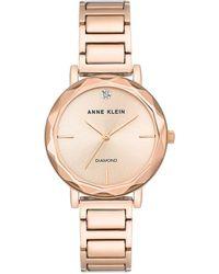 Anne Klein Rose Goldtone Sculpted Watch - Metallic