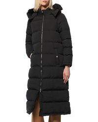Marc New York Quilted Faux-fur Trimmed Puffer Coat - Black
