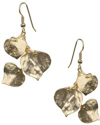 Kenneth Jay Lane - Three-leaf Fishhook Earrings - Lyst