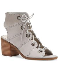 Jessica Simpson - Leather Open Toe Lace-up Sandals - Lyst