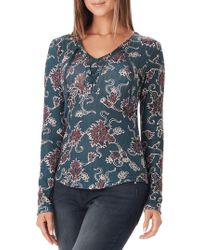 William Rast - Phoebe Lace-up Henley - Lyst