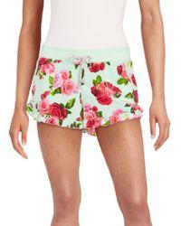 Betsey Johnson - Ruffled Rose Shorts - Lyst