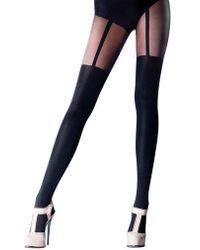 Pretty Polly - Mock Suspender Tights - Lyst